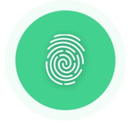 Fingerprint indicating pay by touch